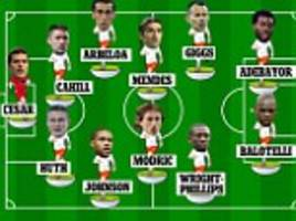 Odd Man Out: Mario Balotelli, Emmanuel Adebayor and Luka Modric all make the team, but who is the misfit in our XI?