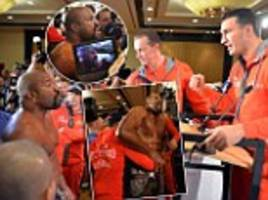 Wladimir Klitschko challenged to fight by veteran Shannon Briggs during manic press conference