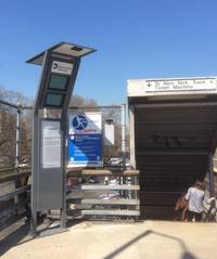 Metro-North unveils solar-powered kiosks at Bronx station